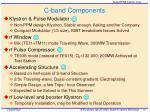 c band components