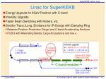 linac for superkekb