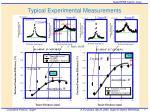 typical experimental measurements