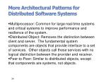more architectural patterns for distributed software systems
