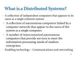 what is a distributed systems