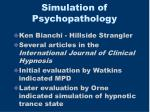 simulation of psychopathology