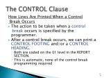 the control clause1