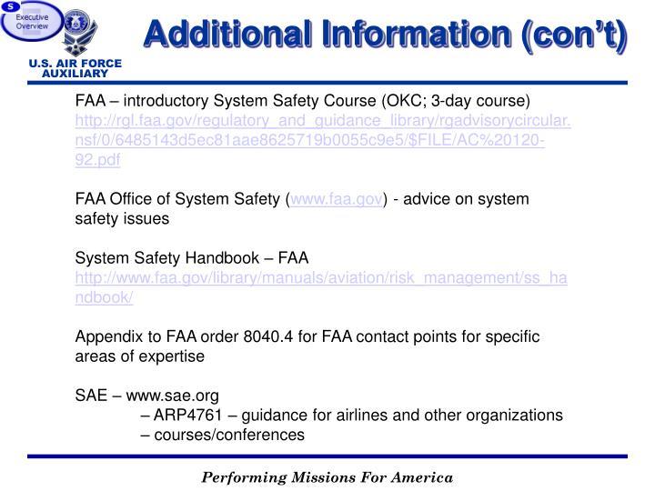 Additional Information (