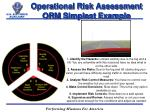 operational risk assessment orm simplest example