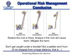 operational risk management conclusion