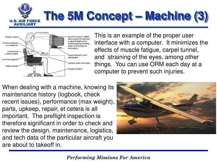 The 5M Concept – Machine (3)