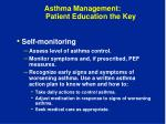 asthma management patient education the key