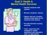 goal 2 health mental health services