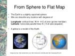 from sphere to flat map