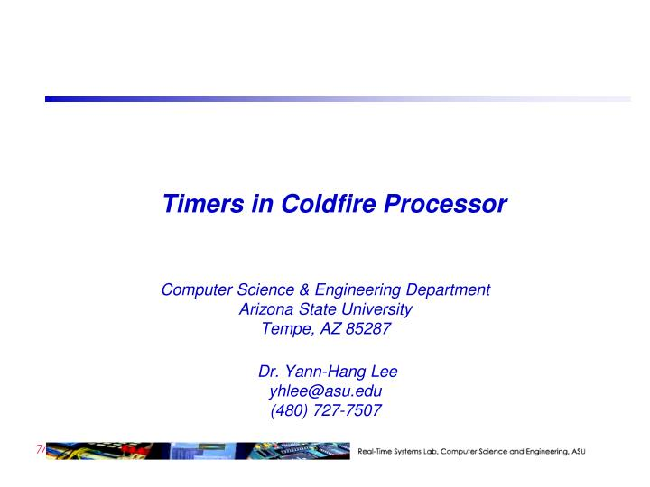 timers in coldfire processor n.