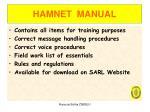 hamnet manual