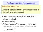 categorization assignment
