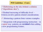 poi guidelines cont