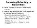 converting reflectivity to rainfall rate