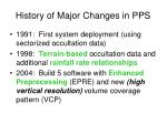 history of major changes in pps