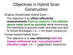 objectives in hybrid scan construction