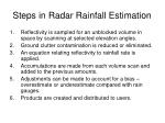 steps in radar rainfall estimation