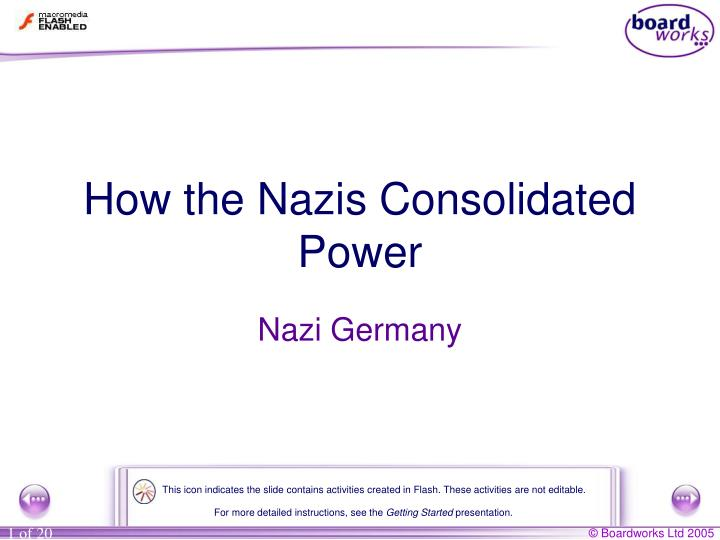 how the nazis consolidated power n.