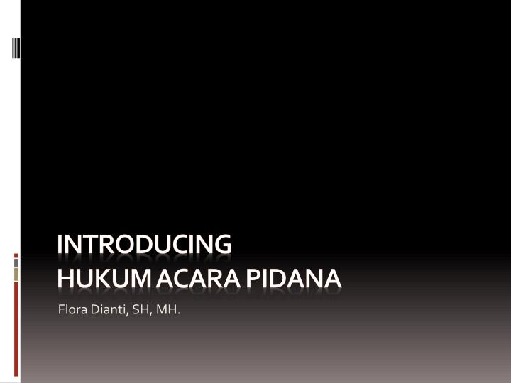 introducing hukum acara pidana n.