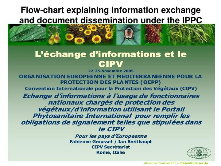 flow chart explaining information exchange and document dissemination under the ippc n.