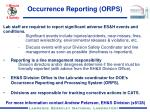 occurrence reporting orps