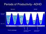 periods of productivity adhd