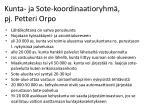 kunta ja sote koordinaatioryhm pj petteri orpo