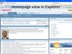 homepage view in explorer
