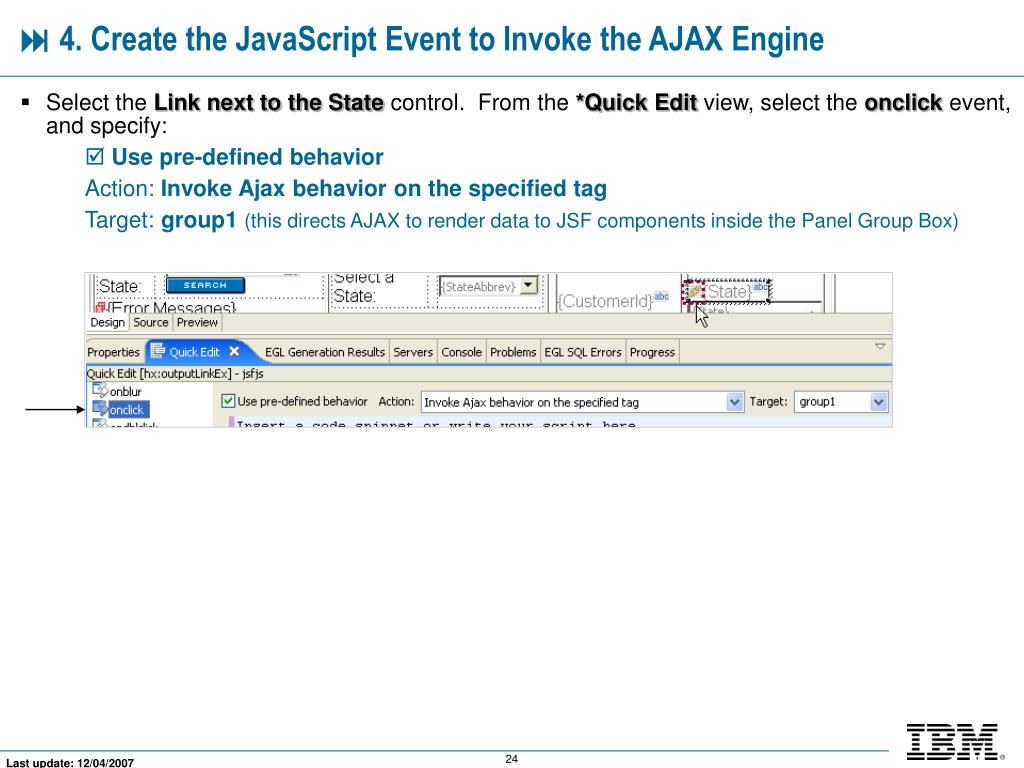 PPT - AJAX-Enabling Your JSF Components and Web Pages PowerPoint