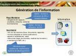 g n ration de l information