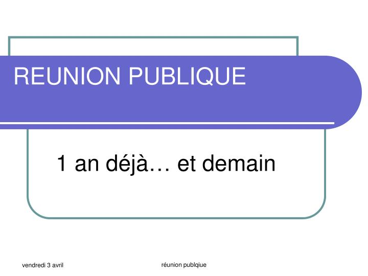 reunion publique n.