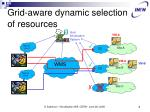 grid aware dynamic selection of resources