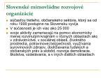 slovensk mimovl dne rozvojov organiz cie