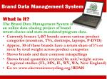 brand data management system