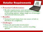 retailer requirements