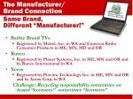 same brand different manufacturer