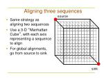 aligning three sequences