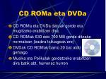 cd roma eta dvda