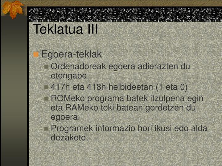 Teklatua III