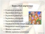 basis untuk segmentasi