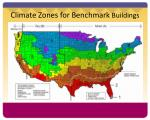 climate zones for benchmark buildings