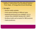 option 2 benchmark via simulation results from dept of energy benchmark buildings