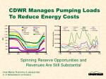 cdwr manages pumping loads to reduce energy costs