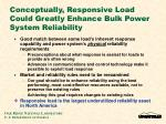 conceptually responsive load could greatly enhance bulk power system reliability