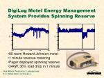 digilog motel energy management system provides spinning reserve