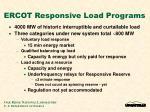 ercot responsive load programs