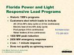 florida power and light responsive load programs