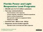 florida power and light responsive load programs1