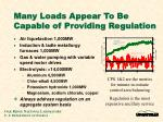 many loads appear to be capable of providing regulation